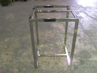 Expositor de hierro en cromo brillo