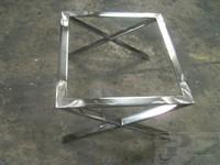 Mesa de centro de hierro cromo brillo